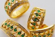emerald rings and earrings