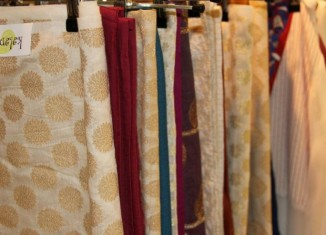 chanderi and brocade materials