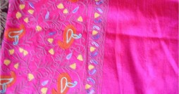 pink kashmiri shawl