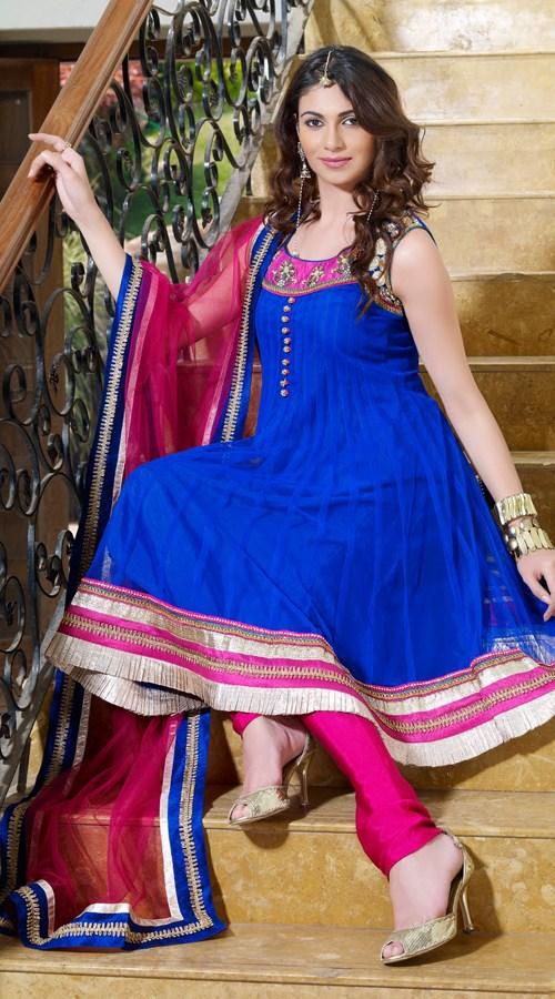 royal-blue-net-salwar