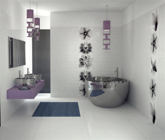 Modern Purple Bathrooms