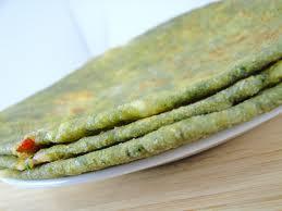 spinach chapathi-palak paratha