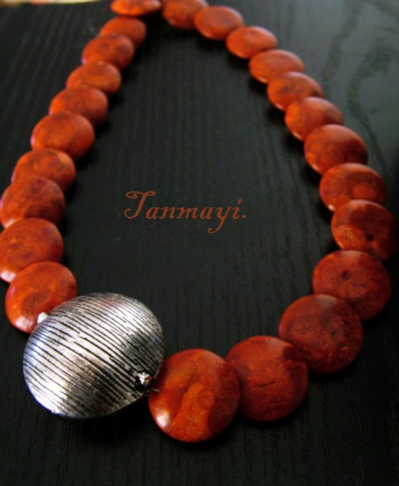 coral jewellery by tanmayi