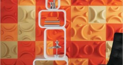 Orange-white-Modern-and-Stylish-Wall-Painting-Decoration-Ideas-for-Your-Home-Design