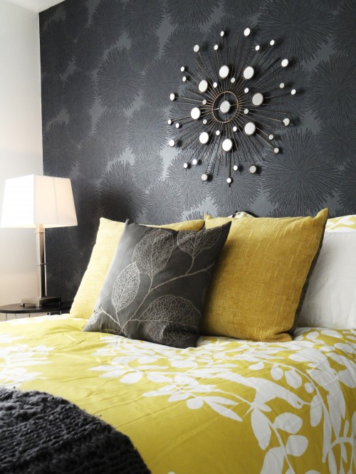 Yellow and Gray Bedroom 500 x 666