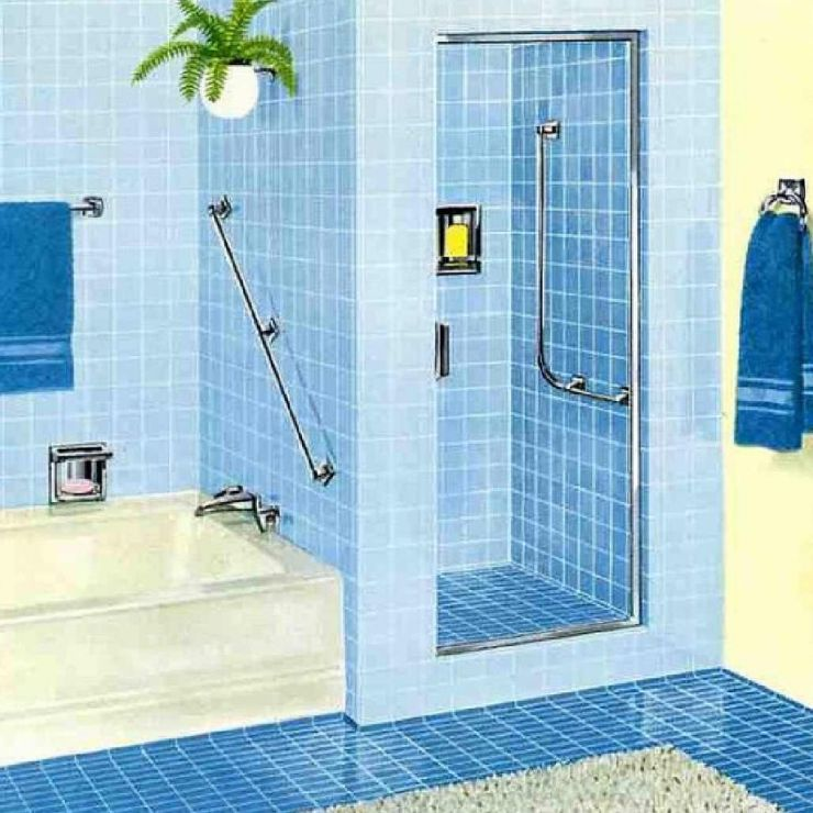 Modern Blue Colour Bathrooms | MinMit