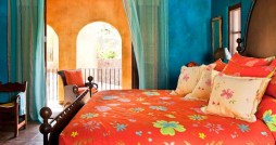 bright and colourful bedroom interiors