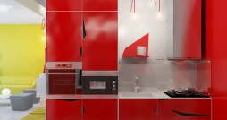 Contemporary-red-kitchen-units-Small-Apartment-Zinging-with-Attractive-Color-designed-by-Anna-Marinenko (1)