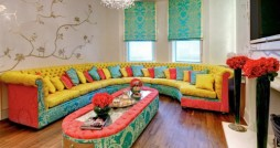 colourful living room interiors