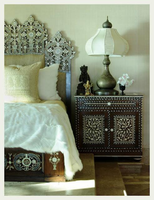 La camera da letto in stile etnico