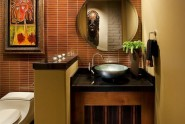 yellow bathroom interiors