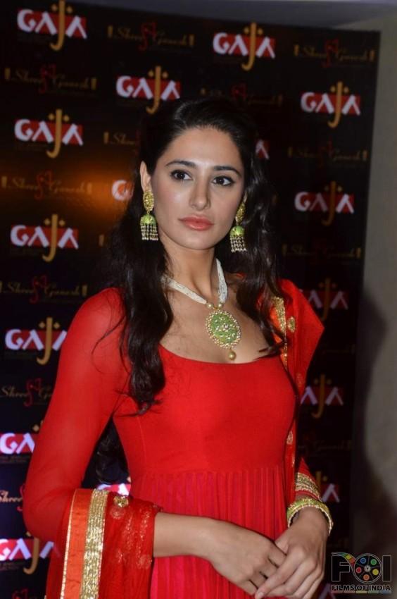 nargis fakhri for gaja heritage jewellery