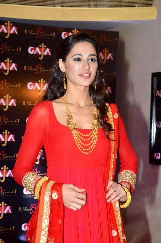 nargis fakhri for gaja heritage jewellery