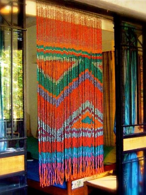 ikkat bead curtain