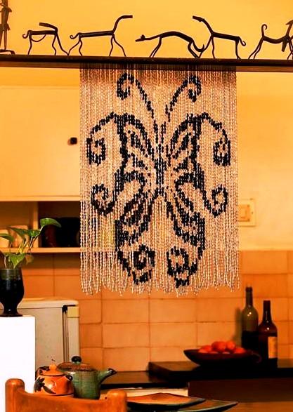 butterfly bead curtain