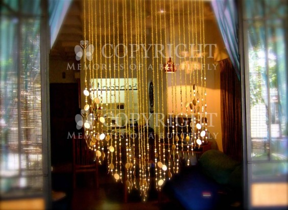 Champagne Gold Basket balcony bead curtain