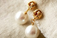 Pearl Earrings from Laura Stark etsy