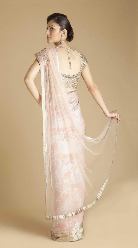 pink-peacock-motif-georgette-saree-from-gaurav-gupta