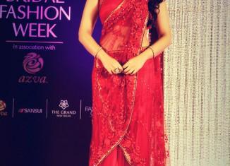 sonakshi sinha red half saree