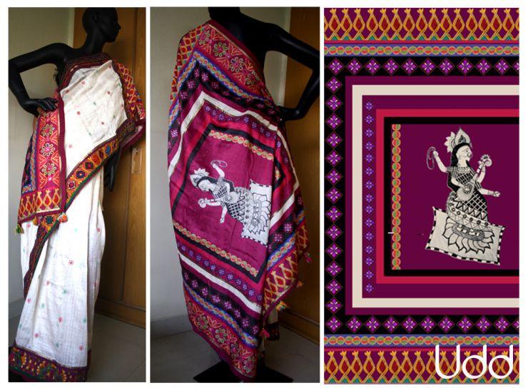 saraswati-with-kutch-borders