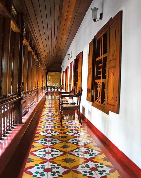 Athangudi tiles chettinadu style interiors for House floor tiles design in india