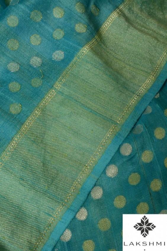 blue banaras saree from lakshmi