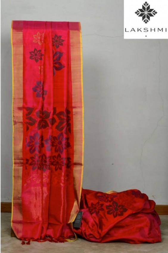 dark pink kanjivaram saree by lakshmi