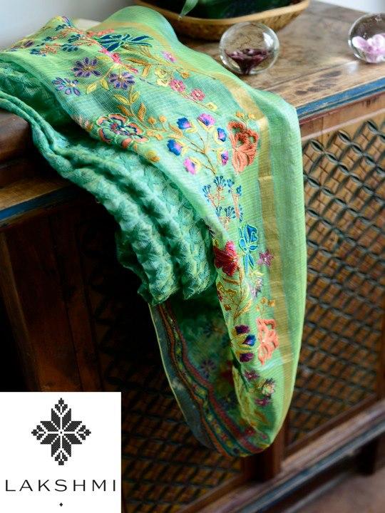 embroidered silk kota
