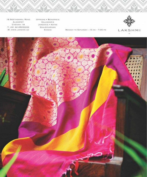 pink benaras from lakshmi