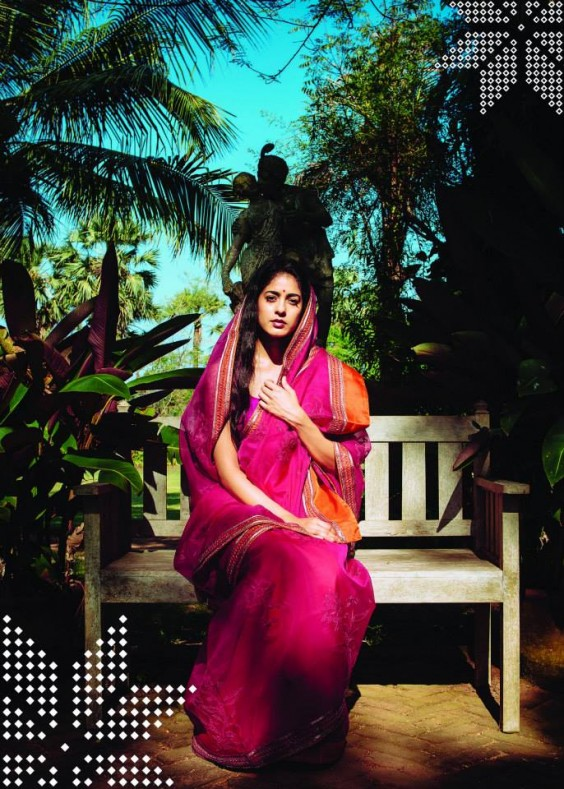 pink cotton saree from lakshmi