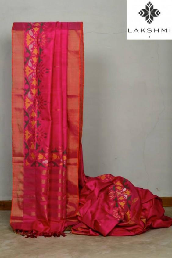 pink kanjivaram saree