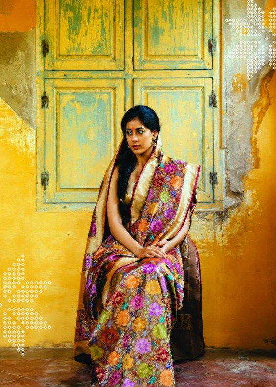 printed kanjivaram saree by lakshmi