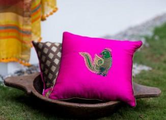 Silk Embroidered Cushions DruZari by Bhuvi Kilpady