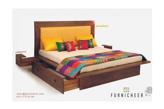 bed spread and cushions from furnicheer-ethnic-furniture