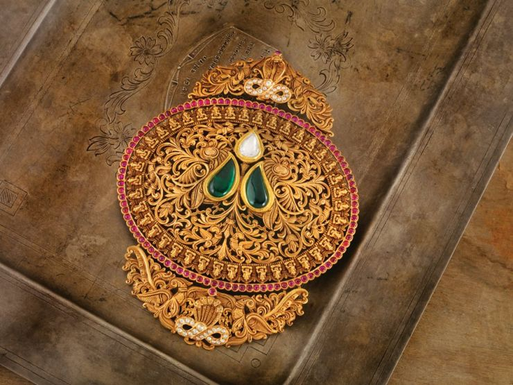 antique_gold_pendant_from_navrathan_jewellers