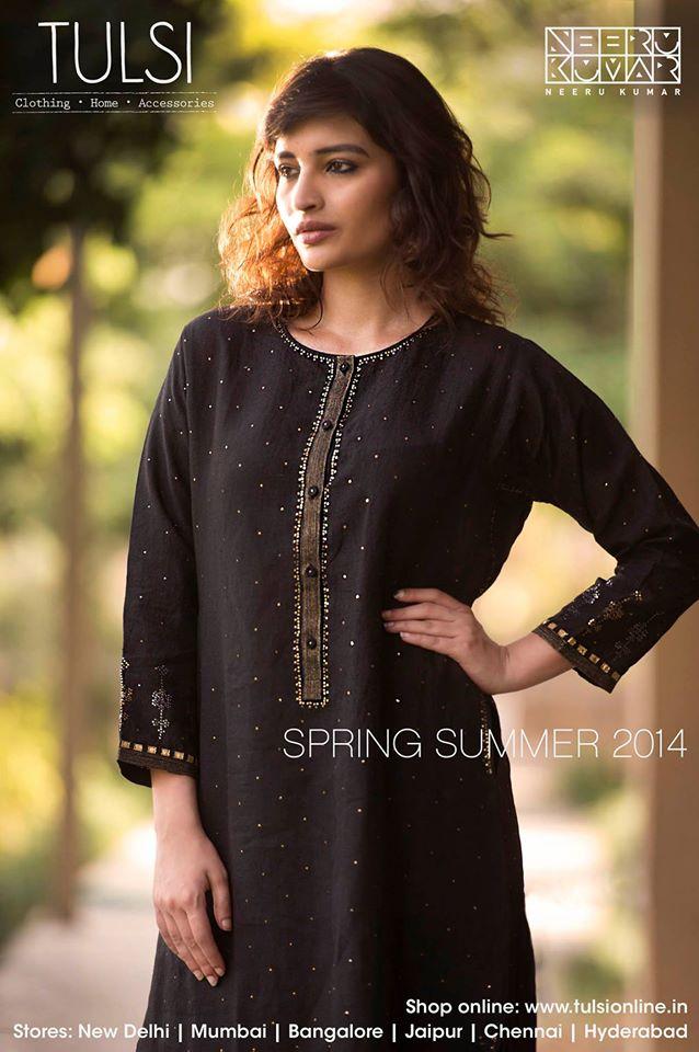 black salwar kameez Spring Summer 2014 at Tulsi stores and Tulsi online