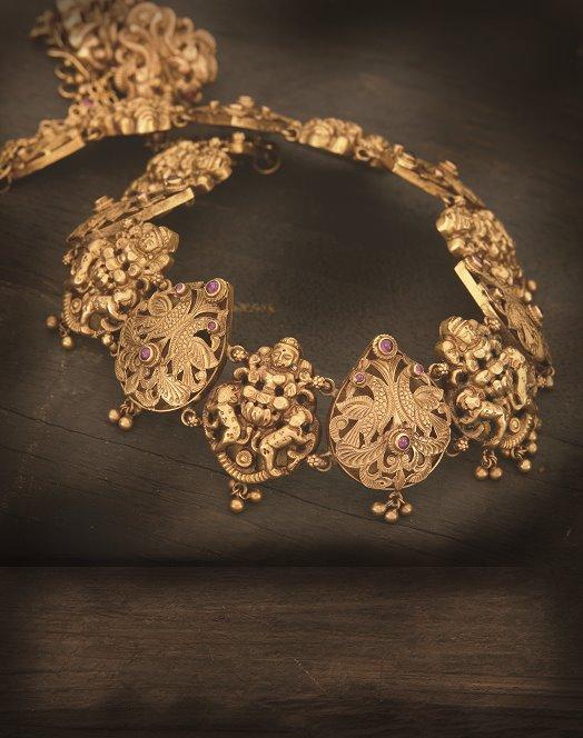 lakshmi_pendants_necklace_from_navrathan_jewellers