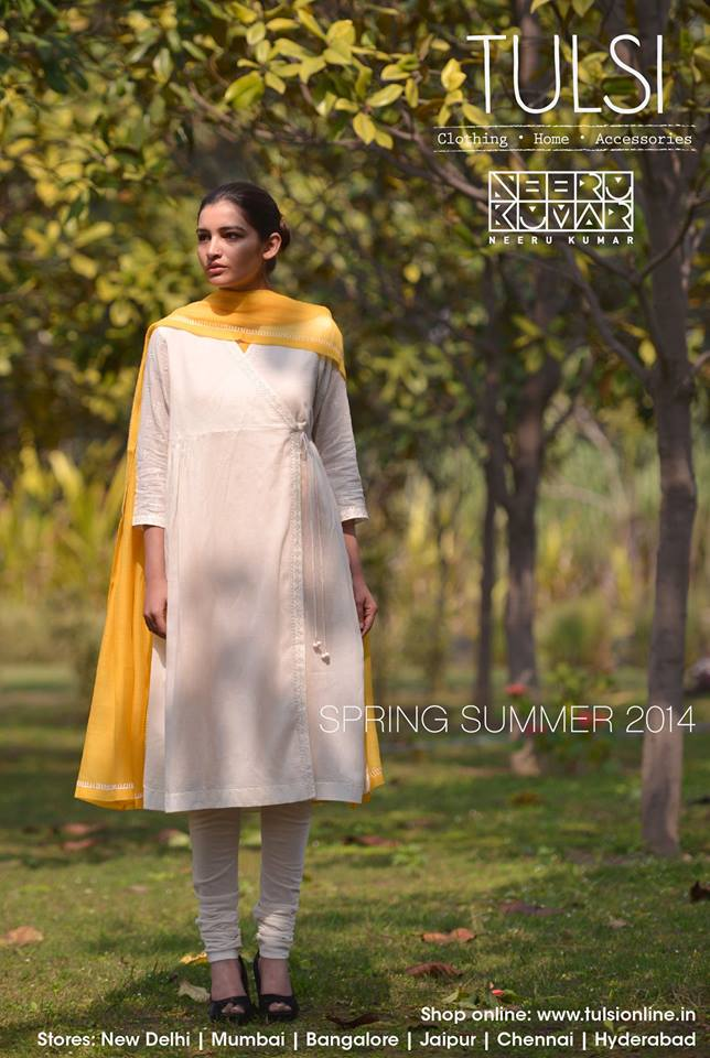 white churidar from tulsi online