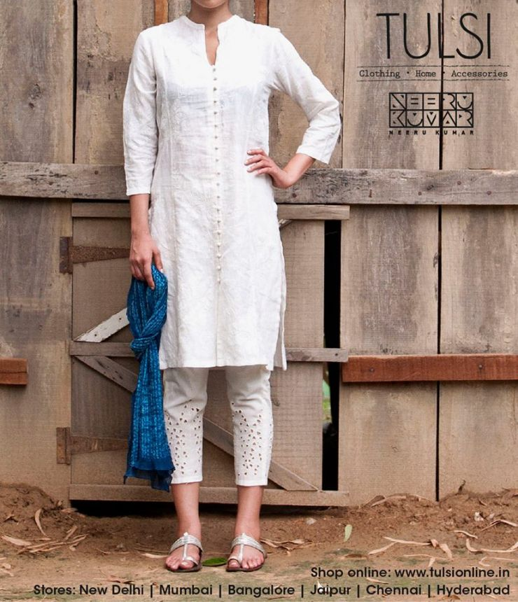 white salwar kameez Spring Summer 2014 at Tulsi stores and Tulsi online