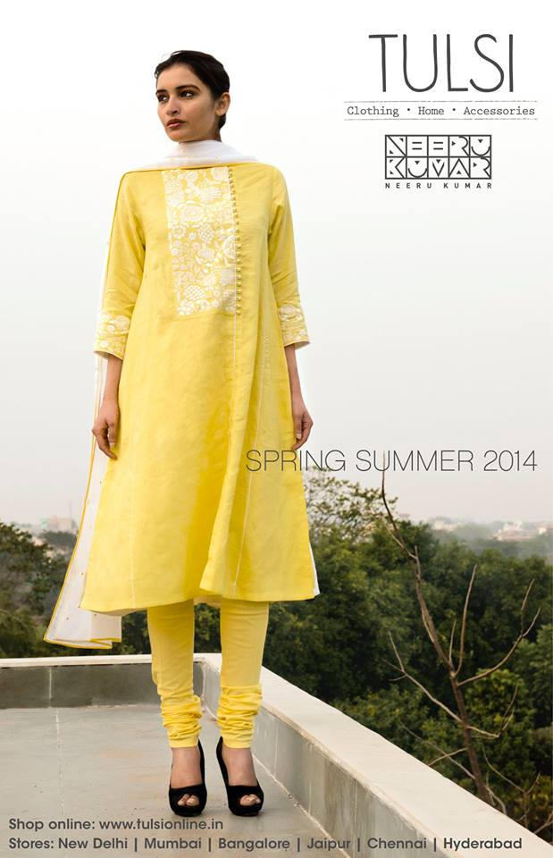 yellow salwar from tulsi online