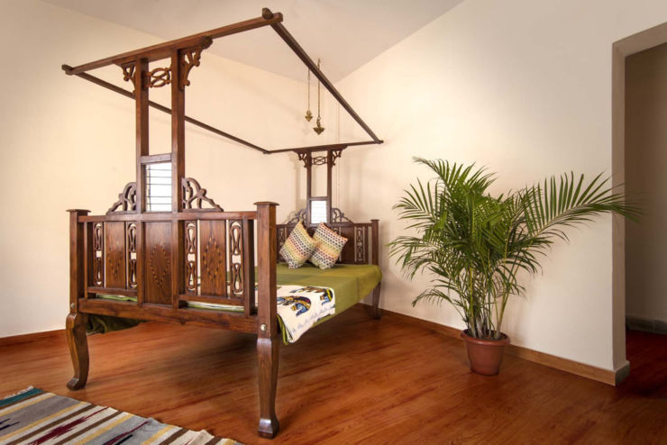 antique rosewood parsi bed