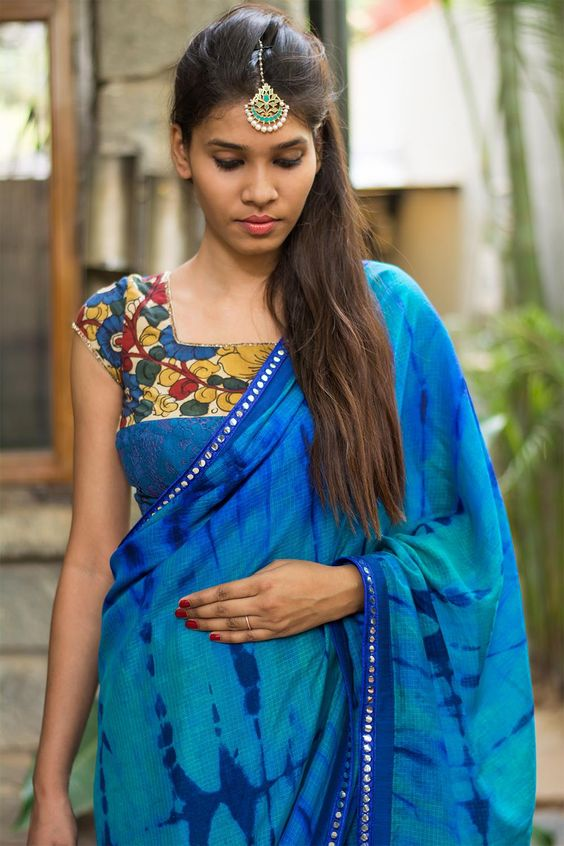 beautiful kalamkari blouse