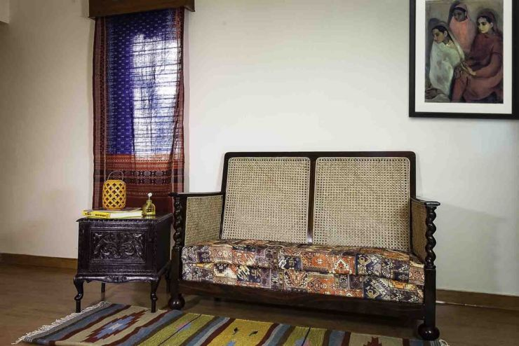 rosewood antique goan wicker