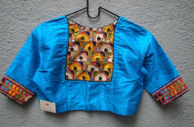 blue kutch work blouses from house of taamara
