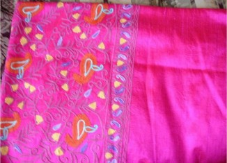 pink kashmiri shawl