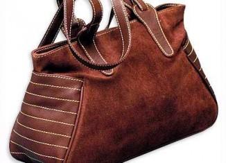 brown ladies leather handbag