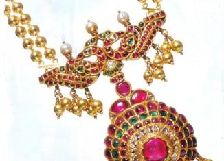 gold temple jewellery sets by manjula jewels