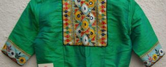 green kutch work blouses from house of taamara